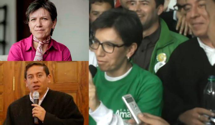 Claudia López y Carlos Amaya